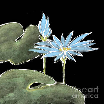 Water Lily-Blue by Chris Paschke