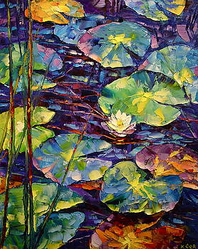 Water Lily by Keren Gorzhaltsan