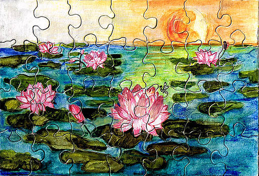 Water lily  by Shahrzad Mahmoudi