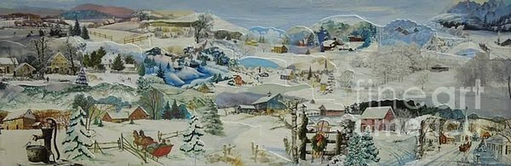 Water Pump in Winter - SOLD by Judith Espinoza