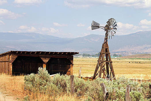 Water Pumping Windmill by Steven Frame
