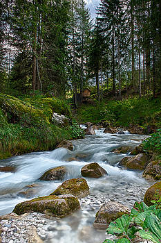 Water rushing down by Wim Slootweg