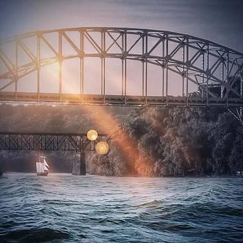 #water #ship #sailing #bridge by Pete Michaud