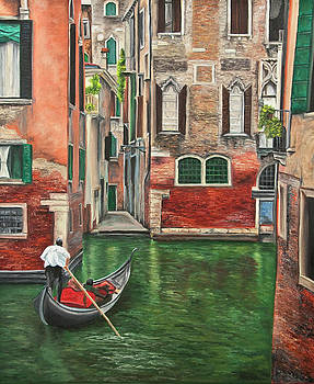 Charlotte Blanchard - Water Taxi On Venice Side Canal