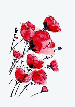 Water The Red Rose Art by Sheila Mcdonald