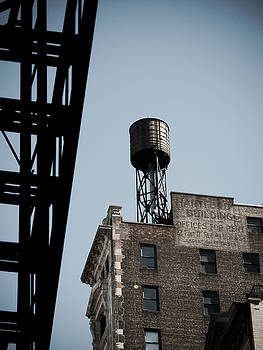 Water Tower And Fire Escape by Darren Martin