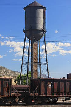 Water Tower Nevada Northern by Douglas Miller