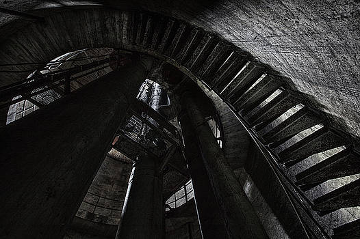 Water tower stairs by Dirk Ercken