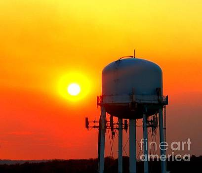 Water Tower Sunset by Beth Ferris Sale