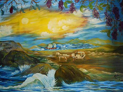 Water Wave by Darlene Custer