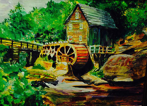 Water Wheel by Carole Johnson