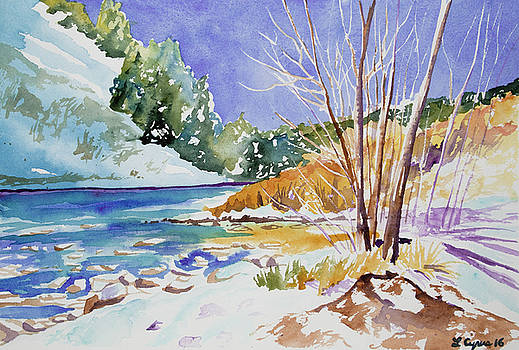 Watercolor - Approaching Winter in Clear Creek Canyon by Cascade Colors