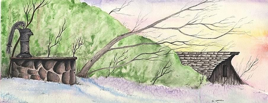 Watercolor barn by Darren Cannell