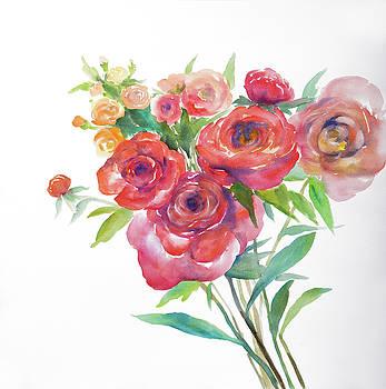 Watercolor Bouquet of Flowers by Atelier B Art Studio