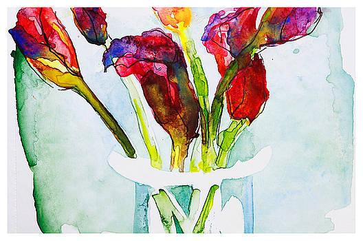 Watercolor Calas by Natalia Stahl