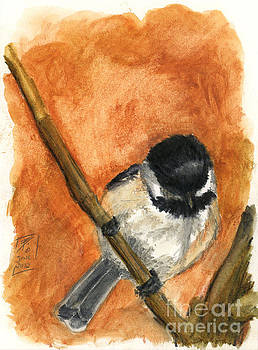Watercolor Chickadee by Brandy Woods