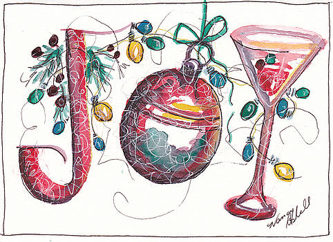 Watercolor Christmas Notecard by Michele Hollister - for Nancy Asbell
