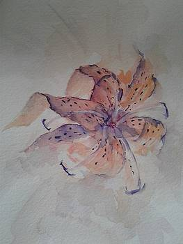 Watercolor Day Lily by Charlene CicALESE