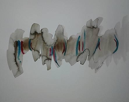 Watercolor Design 5 by B L Qualls