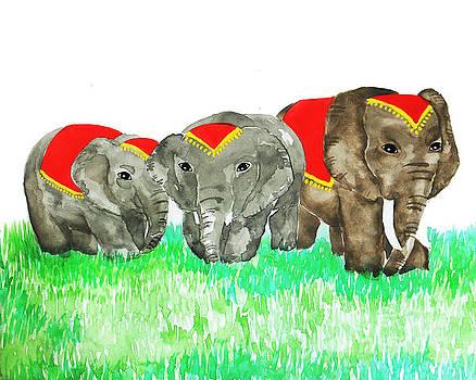 Watercolor Elephant  by Rasirote Buakeeree