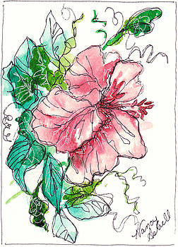 Watercolor Flower In Pink by Michele Hollister - for Nancy Asbell