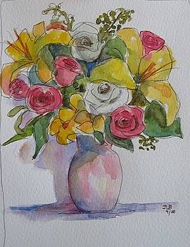 Watercolor Flowers by Janet Butler