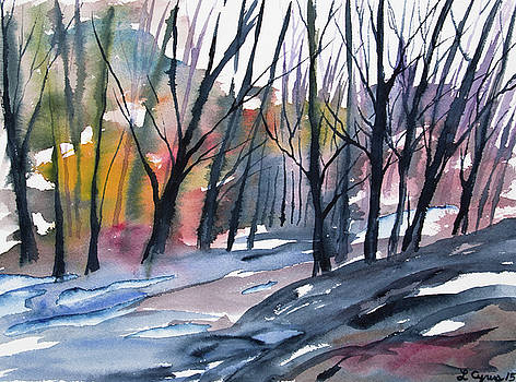 Watercolor - Forest in Transition by Cascade Colors