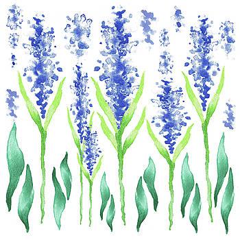 Irina Sztukowski - Watercolor Garden For Baby Room Magic Blue Flowers