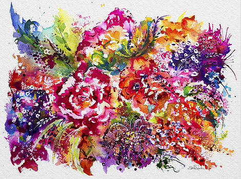 Watercolor garden III by Isabel Salvador