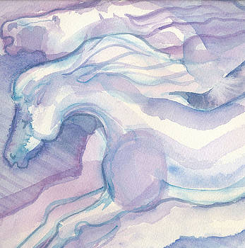 Watercolor Horses II by Linda Kay Thomas