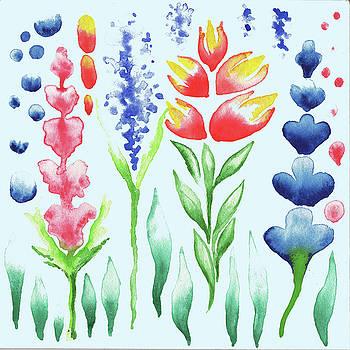 Watercolor Magic Flowers Magic Garden For Baby Room by Irina Sztukowski