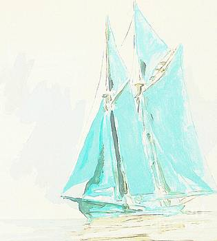 John Malone - Watercolor of Schooner