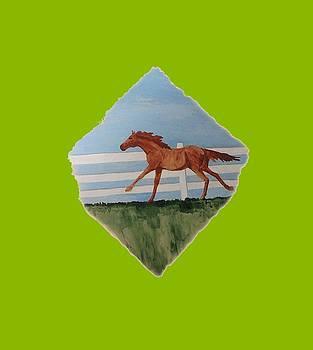 Watercolor Pony by Joyce Wasser