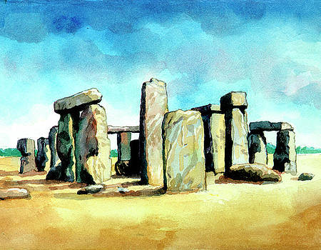 Watercolor Rendering Of Stonehenge by Photos.com