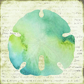 Watercolor sand dollar by Marilu Windvand