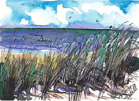 Watercolor Seashore by Michele Hollister - for Nancy Asbell