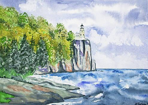 Watercolor - Split Rock Lighthouse by Cascade Colors