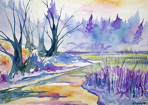 Watercolor - Stream and Forest by Cascade Colors