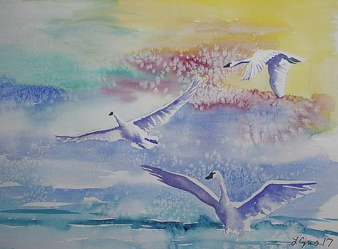 Watercolor - Swan Lake Detail by Cascade Colors