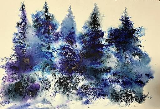 Watercolor Trees 4 by Julia S Powell