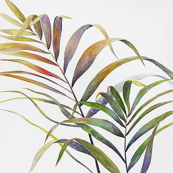 Watercolor Tropical Palm Leaves by Atelier B Art Studio