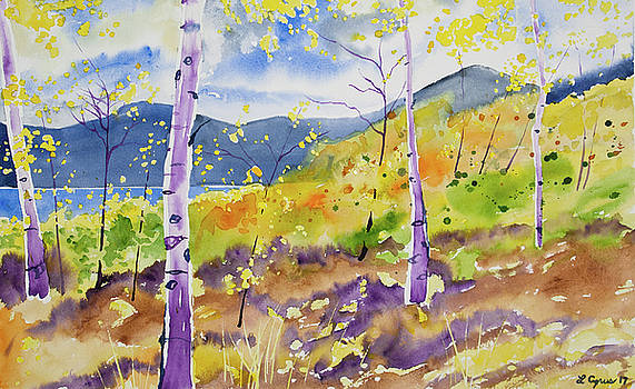 Watercolor - Twin Lakes Autumn by Cascade Colors
