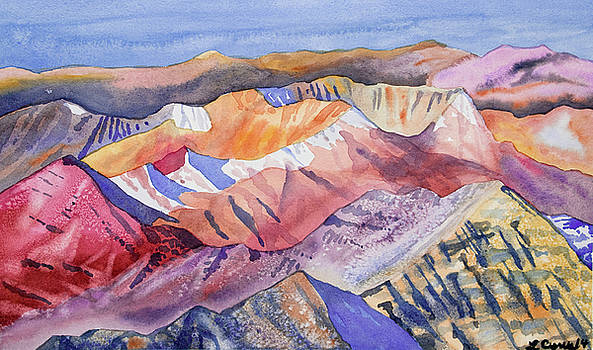 Watercolor - View from Atop Castle Peak by Cascade Colors