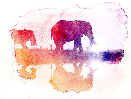 Watercolor Wildlife 2 by The DigArtisT
