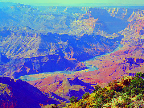Watercolor World of the Grand Canyon by Michelle Dallocchio
