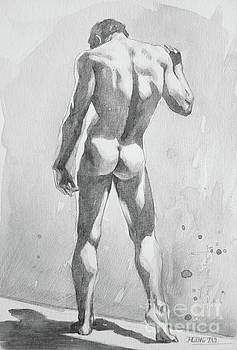 Watercolour Painting Male Nude #17931 by Hongtao Huang