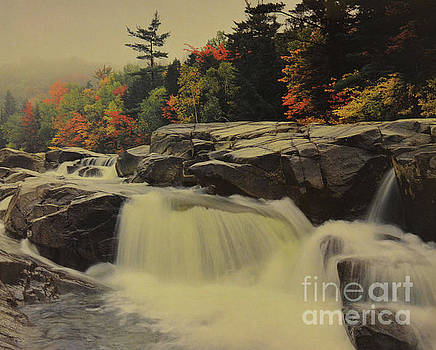 Waterfall At Autumn 2 by Ruth Housley