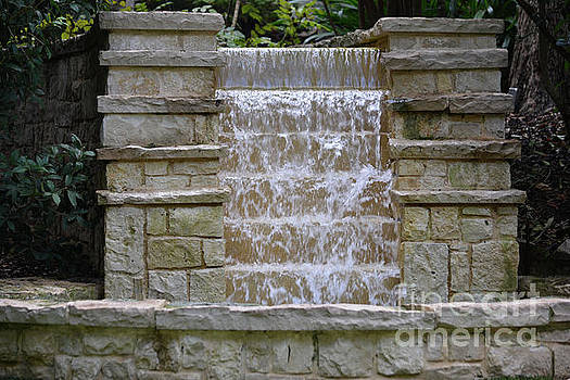 Waterfall at Dallas Arboretum  by Ruth Housley