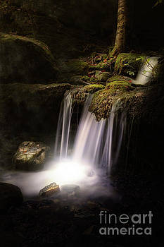 Waterfall at Night by Tim Wemple