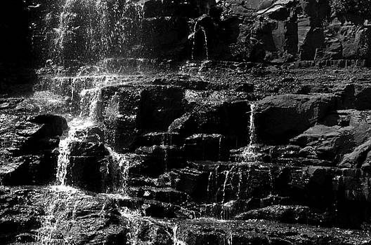 Waterfall Close-up by Lonnie Paulson